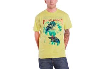 Mastodon T Shirt Unholy Ceremony Band Logo Official Mens New Yellow
