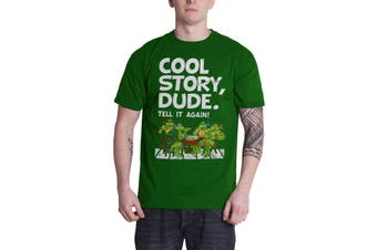 Teenage Mutant Ninja Turtles T Shirt Cool Story Dude new Official Mens Green