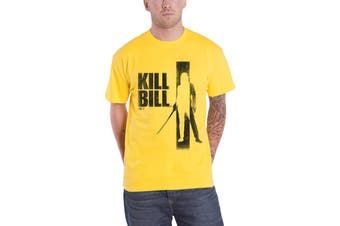 Kill Bill T Shirt Silhouette Movie poster logo new Official Mens Yellow