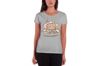 Pusheen T Shirt Purrfect Weekend new Official Womens Skinny Fit