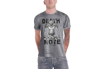 Death Note T Shirt Stare Of Death Logo new Official Mens Grey