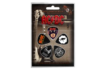 AC/DC Plectrum Pack Guitar pick x 5 Band logo Highway to Hell new Official