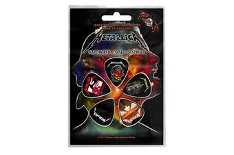 Metallica Plectrum Pack Guitar pick x 5 Band logo Hardwired new Official