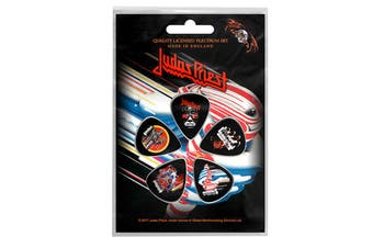 Judas Priest Plectrum Pack Guitar pick x 5 Band logo british Steel new Official