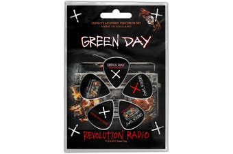 Green Day Guitar Pick Plectrum Pack X 5 Revolution Radio new Official Black