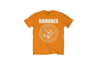 Ramones Kids T Shirt Presidential Seal new Official Orange (Ages 5-14yrs)