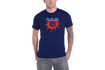 REM R.E.M. T Shirt Monster Album Band Logo new Official Mens Blue