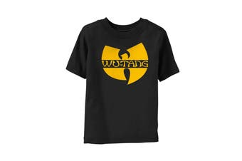 Wu Tang Clan Kids T Shirt Classic Band Logo Official Black Ages 3- 24 Months