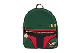 Star Wars Backpack Boba Fett helmet Convertible Mini Official Loungefly Green