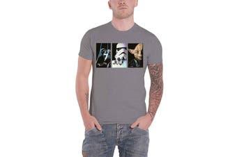 Star Wars T Shirt Tri VHS Art Movie Logo new Official Mens Grey