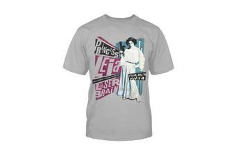 Star Wars Kids T Shirt Princess Leia Rock Poster new Official Mens Grey