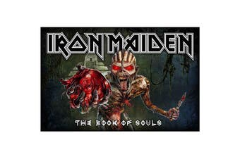 Iron Maiden Poster Book Of Souls Band Logo new Official Textile 70cm x 106cm