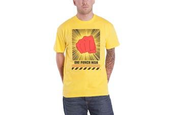 One Punch Man T Shirt The Punch Logo new Official Mens Yellow