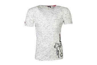Super Mario T Shirt Space Dye Logo new Official  Mens Grey