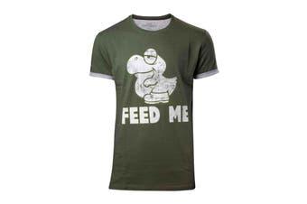 Super Mario T Shirt Baby Yoshi new Official Mens Green