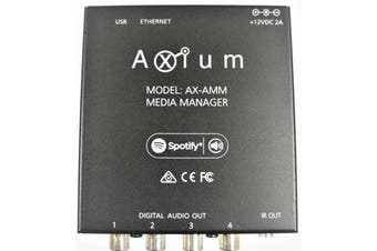AXIUM AXAMM Media Manager 4 Digital Coax  and 8 network streams (12 streams in total)