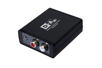 LENKENG LKV3088 Digital to Analog Audio Converter Digital TosLink to Analogue Stereo (L/R RCA &