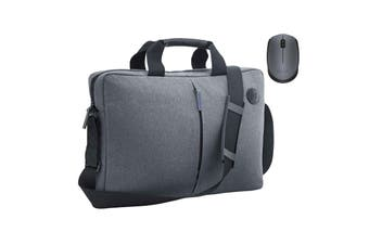 "HP Atlantis Grey Carry Laptop Bag and Logitech M171 Wireles Mouse Bundle - 14-15.6""  Laptop/"