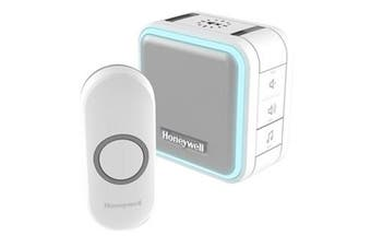 Honeywell HONDC515NA Wireless Portable         Doorbell with Halo Light and Push Button. 6x