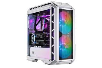 Cooler Master MasterCase H500P Mesh White ARGB ATX MidTower Gaming Case 2X 200MM ARGB