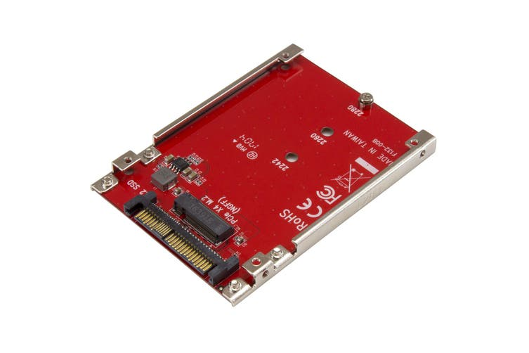 StarTech M.2 to U.2 Adapter - M.2 Drive to U.2 (SFF-8639) Host Adapter for M.2 PCIe NVMe SSDs - M.2