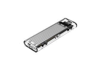 Orico Tramsparent M.2 NVME USB3.1 Gen.2 USB-C SSD Enclosure - Sliver