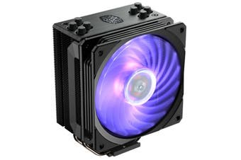 Cooler Master Hyper 212 RGB Black Edition CPU Cooler Gun-metal Black with Brushed Aluminum Surface