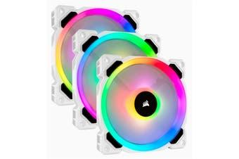 Corsair LL Series LL120 RGB Dual Light Loop PWM Fan 120mm 3 FAN Pack with Lighting Node Pro