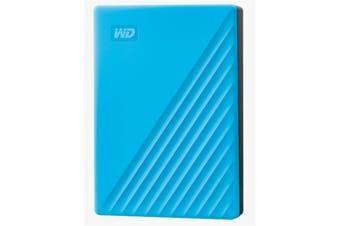 "WD My Passport 4TB 2.5"" USB 3.0 Portable External HDD - Blue Colour"