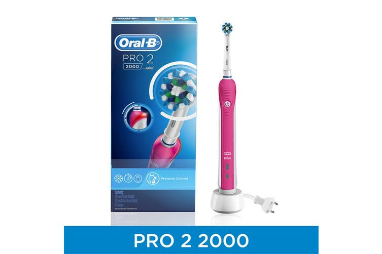 Oral-B PRO2000 Electric Toothbrush with daily clean and gum care brushing modes to protect your