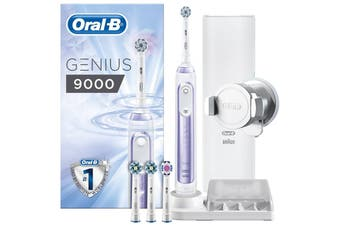 Oral-B Genius9000(Purple) Electric Toothbrush helps you protect your delicate gums  with the