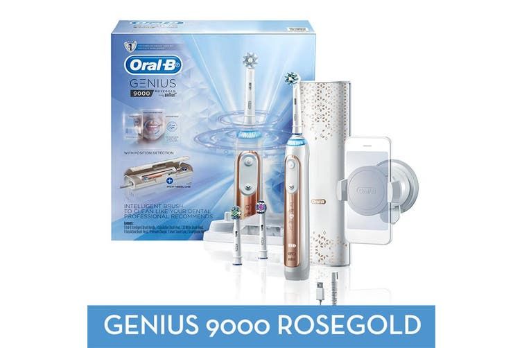Oral-B Genius9000(Rose Gold) Electric Toothbrush helps you protect your delicate gums with the