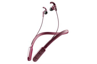 Skullcandy Inkd+ Active Sports Wireless In-Ear Headphones - Deep Red - with in-line mic and controls