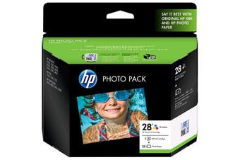HP Ink Cartridge 28 Photo Q8893AA 28 Tri-Colour + 25 sheets 6x4 photo paper