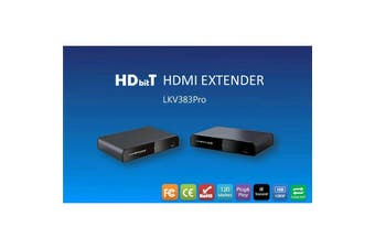 LENKENG LKV383PRO HDBiT HDMI extender over IP . Extend and split over local LAN via router/switch.