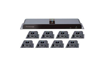 LENKENG LKV718PRO  1 in 8 Out HDMI Extender. 1 HDMI in to 8 RJ45 out. 8 Receivers Included.