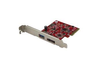StarTech PEXUSB311A1E USB 3.1 PCIe Card - 2 port - 1 x USB-A and 1 x eSATA - 10Gbps - USB 3.1 Card -