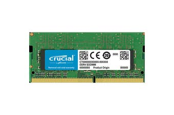Crucial 16GB DDR4 SODIMM 2666 MT/s (PC4-21300) CL19 DR x8 Unbuffered SODIMM 260pin  For Laptop and