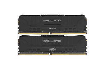 Crucial Ballistix 16GB Kit (8GBx2) Black DDR4 2666 MT/s (PC4-21300) CL16 SR x8 Unbuffered DIMM