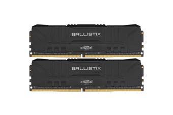 Crucial Ballistix 16GB Kit (8GBx2) Black DDR4 3200 MT/s CL16 SR x8 Unbuffered DIMM 288pin For Intel