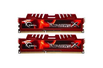 G.SKILL RIPJAWS X Desktop DDR3 8GB RAM (2x4GB) DDR3 1600MHz RED F3-12800CL9D-8GBXL (PC3 12800)