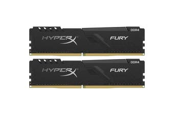 HyperX Fury 8GB RAM (2 x 4GB) DDR4-2666MHz CL16 - Black HX426C16FB3K2/8
