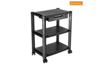 Brateck Height-Adjustable Smart Cart XL with Three-Shelves and Drawer  13  -32   Monitors