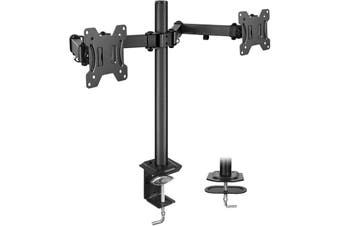 Huanuo HNCM7 Dual Monitor Stand - Double Articulating Arm Monitor Desk Mount - Adjustable VESA