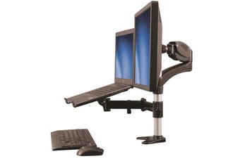 StarTech ARMUNONB Single-Monitor Arm - Laptop Stand - One-Touch Height Adjustment
