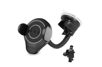 Promate ALPHAMOUNT.BLK  Qi Ultra-Fast Wireless Car  Charging Mount. Clamps on to Any Smooth Surface