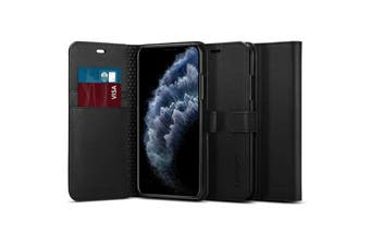 "Spigen iPhone 11 Pro Max (6.5"") Flip Wallet Case - Black"