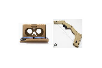 GEEKPLAY Entry Level VR & AR Experience Kit Included Google DIY Cardboard VR Headset & AR Bow