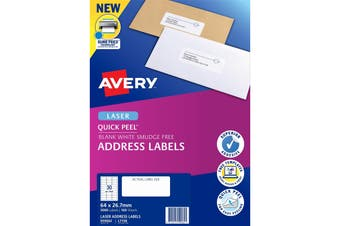 Avery Label L7158 General Use 64x26.7mm FSC Mix Credit 100 Sheets