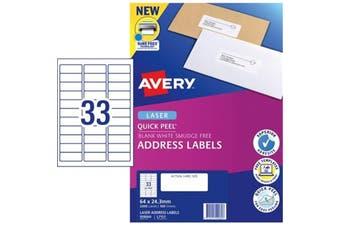 AVERY Label L7157-100 64x24.3mm FSC Mix Credit 100 Sheets